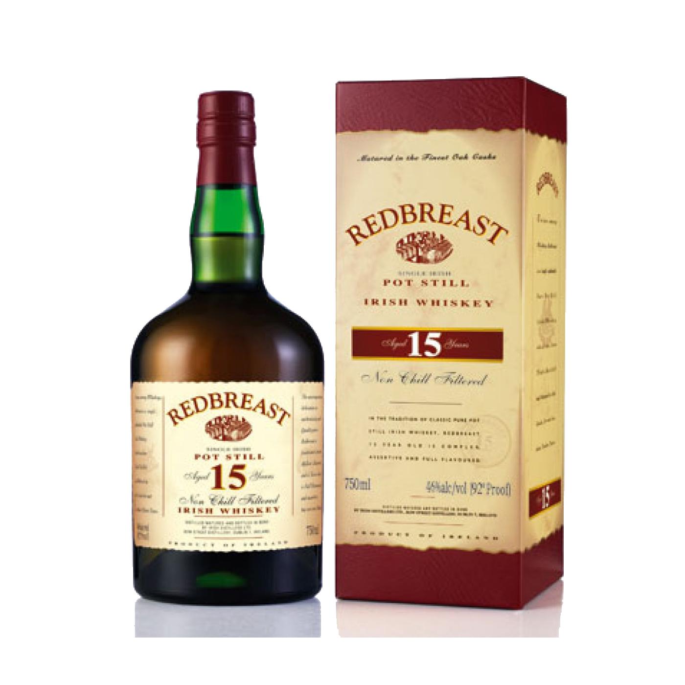 Redbreast 15yr single pot still irish whiskey