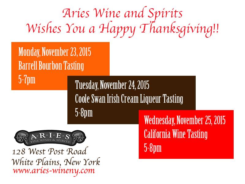 Thanksgiving Week Tastings